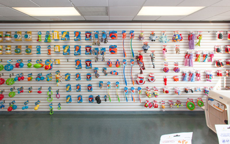 Tonawanda location wall of toys